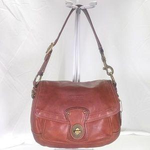 Coach Ali Legacy Cognac Shoulder Bag